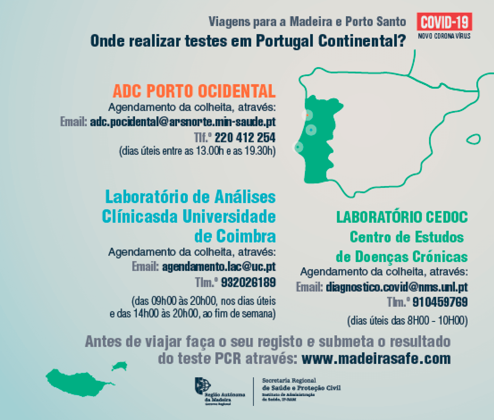 Places Protocoled by the Regional Government of Madeira